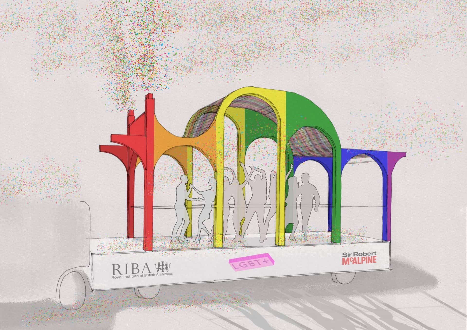 LFA and Architecture LGBT+ announce shortlist for Pride in London float