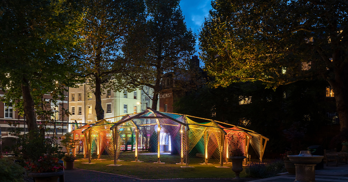 LFA & Architecture LGBT+'s Pride Pop Up reveal 'Rainbow After The Storm' by Foster + Partners